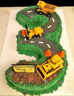 Construction chaos birthday cake