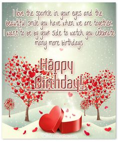 Today we are presenting the best happy birthday wishes for lovers. If you love someone and want to wish him a happy birthday. We bring you the best happy birthday wish for lovers. Birthday Wishes For Fiance, Romantic Birthday Cards, Love Birthday Quotes, Birthday Card Pictures, Birthday Wishes For Lover, Happy Birthday Wishes Quotes, Happy Birthday My Love, Boyfriend Birthday, Birthday Greetings