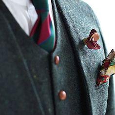 新郎衣装 グリーンのツイードでノーカラースーツ : 結婚式の新郎衣装に関するお話 カジュアルウェディングまとめ
