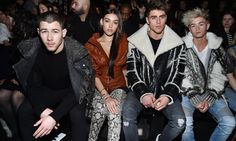 Front row fashion! Nick Jonas, Madison Beer, Jack Gilinsky and Jack Johnson had the best seats in the house during the Balmain runway show.    Photo: Getty Images