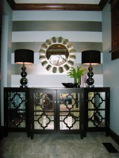 mirrored cabinet in foyer | be a good idea. But this foyer is far from ordinary! Mirrored cabinet ...
