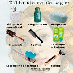 Vocabolario italiano :: Nella stanza da bagno