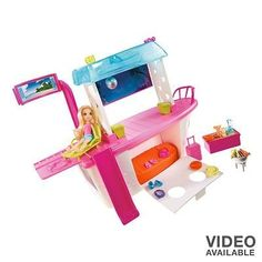 """Polly Pocket Party Boat Adventure Set by Mattel toy gift idea birthday by Polly Pocket Party Boat Adventure Set by Mattel toy gift idea birthday. $34.78. Features Set includes: Polly Pocket figure, party boat & party accessories    Boat: 9""""H x 10""""W x 3""""D (open)    Ages 4 years & up    Some assembly required"""