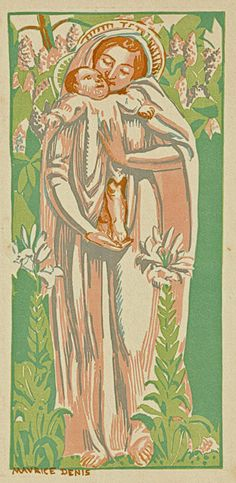 Madonna of the Lilies - Maurice Denis woodcut