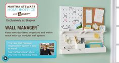 Martha Stewart custom wall manager from Staples - for the ultimate family command center!