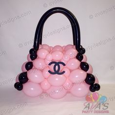 Coco Chanel Balloon Bag #partywithballoons