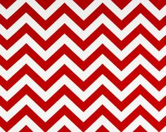 "1 Yard ""Zig Zag"" Fabric in Cherry Red, Chevron, Premier Prints, Home Dec. $10.00, via Etsy."