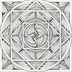 square zentangles   Circle square   Zentangle