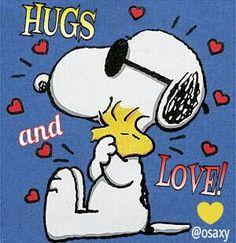 SNOOPY & WOODSTOCK~Hugs and Love