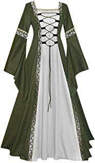 The Qianshan Maomo Womens Vintage Dresses Celtic Long Sleeve Medieval Maxi Dresses Renaissance Gothic Cosplay Dress online shopping - Toocutefashion Renaissance Costume, Renaissance Dresses, Medieval Costume, Old Fashion Dresses, Old Dresses, Vintage Dresses, Maxi Dresses, Dress Fashion, Cosplay Dress