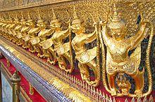Garudas at a temple in Thailand