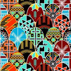 Pysanky Very Much! fabric by thirdhalfstudios on Spoonflower - custom fabric