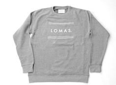The Lomas Brand- Equals Grey Crewneck