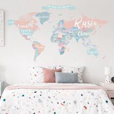 Bedroom Wall Colors, Diy Bedroom Decor, Girl Bedroom Designs, Girls Bedroom, Idee Diy, Kids Decor, My Room, Interior Design Living Room, Rooms