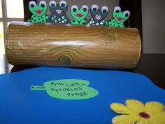 """Cuttest way to sing the little ones """"Five Little Speckled Frogs"""" Five Little, Little Ones, 5 Little Speckled Frogs, Visors, Rolling Pin, Bulletin Boards, Hats, Animals, Animales"""