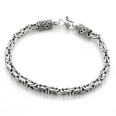 Bling Jewelry Men Sterling Silver Bali Cable Antique Chain Bracelet 7.5 Inch Bling Jewelry. $129.99. Easy hook clasp. Bali antique style bracelet. Unisex for men and women. 925 sterling silver. Weighs about 24 grams. Save 66%!