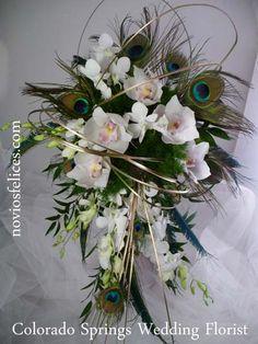 ramos de novia para boda con plumas - Buscar con Google
