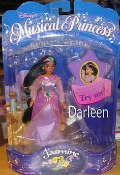 "6"" Disney musical princess Jasmine doll from Aladdin new in package no music 