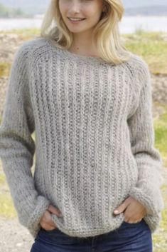 Drops Design, Trendy Girl, Gilets, Knit Crochet, Knitting Patterns, Ravelry, Pullover, Fabric, Sweaters