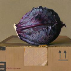"""""""On a Box"""" oil on panel -  10 x 10 inches -  2013 Jeffrey T. Larson"""