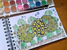 "© 2013 BCD Illustrations.  ""Turtle Trio"". :)"