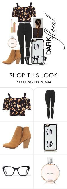 """Dark Floral"" by fashiongirlxcx ❤ liked on Polyvore featuring Miss Selfridge, Topshop, Charlotte Russe, Kate Spade, Spitfire, AERIN and darkfloral"