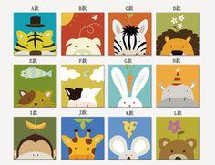 ¥39.20 动物儿童画腾画挂画壁画油画帆布画现代客厅卧室餐厅装饰画无框画-淘宝网