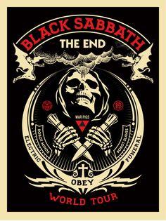 Shepard Fairey Black Sabbath The End Tour Posters Release Hard Rock, Poster Retro, Poster S, Print Poster, Black Sabbath The End, Black Sabbath Lyrics, Black Sabbath Concert, Concert Rock, Rock Y Metal