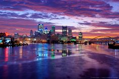 Image Detail for - Pittsburgh Skyline at Night #AlamoHappyPlace