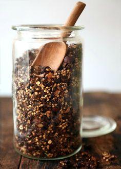 Chunky Chocolate Buckwheat Granola | mynewroots.org