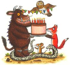 it's all about the gruffalo - party ideas, games, print outs Gruffalo Activities, Gruffalo Party, The Gruffalo, Gruffalo Eyfs, Gruffalo Trail, 3rd Birthday Parties, 2nd Birthday, Gruffalo's Child, Childrens Party