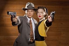 This photo shows the two actors (Emile Hirsche and Holliday Grainger) who will be appearing in the History Channel/A/LIfetime Channel mini-series, Bonnie and Clyde, coming to TV sometime in So excited to see this! Bonnie Parker, Bonnie Clyde, Bonnie And Clyde Halloween Costume, Halloween Costumes, Halloween Ideas, Halloween Outfits, Halloween Queen, Halloween 2018, History Channel