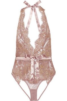 L'Agent by Agent Provocateur | Iana metallic lace and stretch-tulle bodysuit | NET-A-PORTER.COM - lingerie pictures, leather lingerie, under where intimates *ad