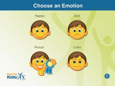 Autism Emotion by Model Me Kids, LLC  Touch the forward and back buttons to move through the photos one by one. Or simply press the slide show button to advance photos automatically. A home button brings you back to the navigation menu where you may choose your next emotion.