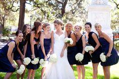 Navy Royal Blue Bridesmaid Dresses