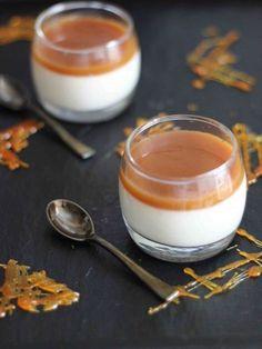 Panna cotta au caramel au beurre salé
