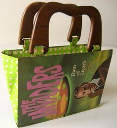 For when i get a sewing machine: Curbly Video Podcast: How to Make a Handbag out of a Recycled Book » Curbly | DIY Design Community