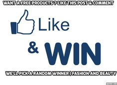 Want FREE products? like our page on facebook  & COMMENT about why you should win. We'll pick a random winner.