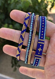 Excited to share the latest addition to my shop: Miyuki loom bracelet, Multi loom bracelets, multi miyuki bracelets, bracelet … Loom Bracelet Patterns, Bead Loom Bracelets, Bead Loom Patterns, Jewelry Patterns, Beading Patterns, Jewelry Bracelets, Beading Ideas, Bracelet Knots, Wrap Bracelets