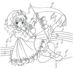 Sakura Card Captor, Cardcaptor Sakura, Coloring Pages For Girls, Cute Coloring Pages, Xxxholic, Color Card, Anime, Magical Girl, Photo And Video