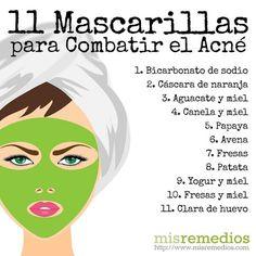 #Mascarillas para el #acné