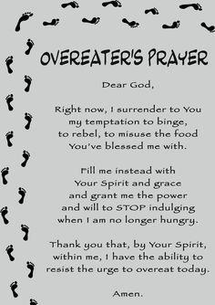 Overeater's Prayer