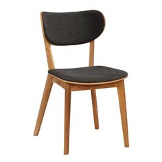 Cato Spisebordsstol eg, Mørk grå sæde Oak Dining Chairs, Dining Room, Light Oak, Bonded Leather, Large Furniture, Miniature Furniture, Cozy Living, Furniture Companies, Grey Fabric