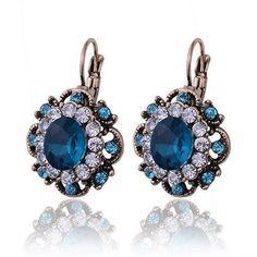 Sapphire Crystal Drop Earrings - AtPerrys Healing Crystals - 1
