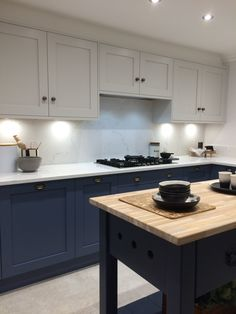 the blue painted kitchen interior design kitchen diner extension 1 Large Open Plan Kitchens, Open Plan Kitchen Diner, New Kitchen, Kitchen Decor, Kitchen Ideas, Closed Kitchen, Beautiful Kitchen Designs, Beautiful Kitchens, Küchen Design