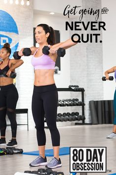 80-Day Obsession will work your booty, abs, and total body. Say hello to your new obsession!
