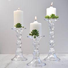 clear dorma collection glass candlestick dunelm. Black Bedroom Furniture Sets. Home Design Ideas