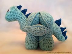 Crochet Spikes Crochet Spikes Pattern-ADD ON TO DINO AMISH PUZZLE BALL