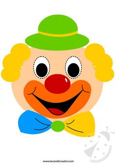 carnival decoration tinker with children clown Clown Crafts, Circus Crafts, Carnival Crafts, Carnival Decorations, Art Drawings For Kids, Colorful Drawings, Easy Drawings, Art For Kids, Crafts For Kids