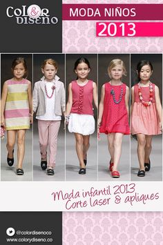 Moda infantil 2013 corte láser y apliques Sewing For Kids, Stylish Dresses, Kids Girls, Kids Fashion, Girls Dresses, Design Inspiration, My Style, Pattern, Clothes